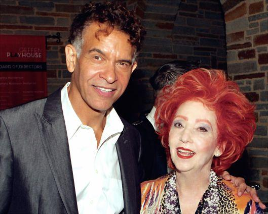 "Dr. Arlene meets Tony-Award winner Brian Stokes Mitchell after his ""win without competing'' performance."